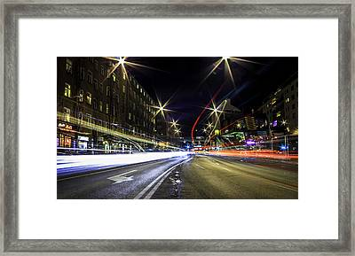 Light Trails 2 Framed Print by Nicklas Gustafsson