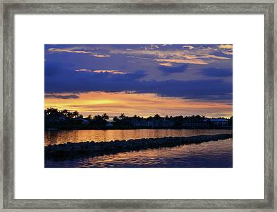 Light Waves Framed Print by Laura Fasulo