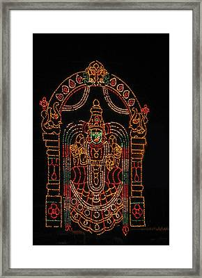 Lighted Durga Framed Print by Umesh U V