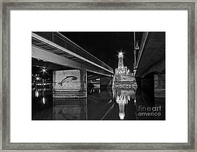 Salmon Passage Framed Print by Charline Xia