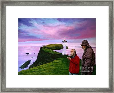 Lighthouse At Mykines Faroe Islands Framed Print by Paul Meijering