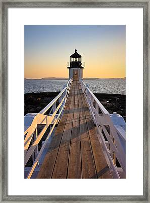 Lighthouse Boardwalk Framed Print by Benjamin Williamson