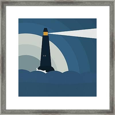 Lighthouse Framed Print by Frank Tschakert