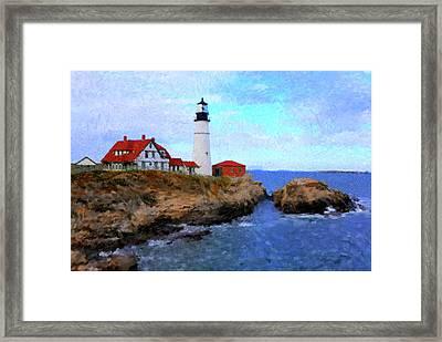 Lighthouse Framed Print by Gary Grayson