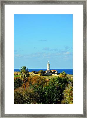 Lighthouse. Island Of Love. Framed Print by Andy Za