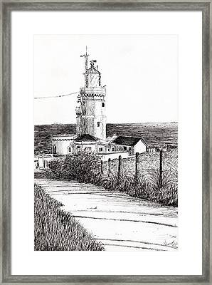 Lighthouse Isle Of Wight Framed Print by Vincent Alexander Booth