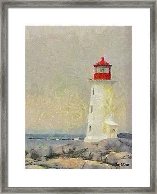 Lighthouse Framed Print by Jeff Kolker