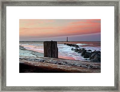 Lighthouse Jetties Framed Print by Drew Castelhano