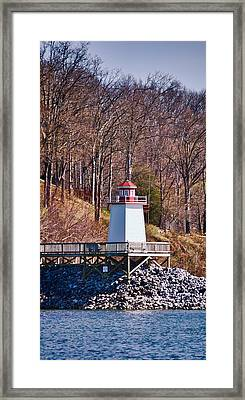 Lighthouse Landing Marina Inlet - Vertical Framed Print by Greg Jackson