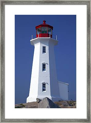 Lighthouse Peggy's Cove Framed Print by Garry Gay