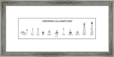 Lighthouses Of The Atlantic Coast Framed Print by Daniel Hagerman