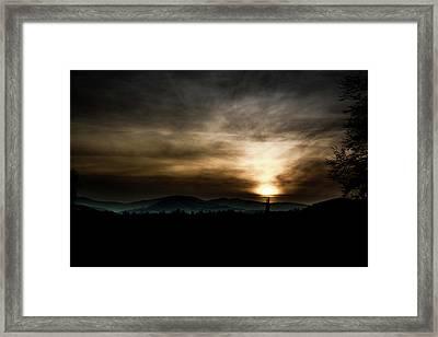 Lighting Up The Mist Framed Print by Cristian Fechete