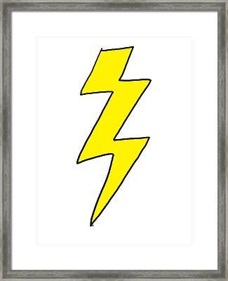 Lightning Bolt - Scott Pilgrim Vs The World Framed Print by Paul Telling