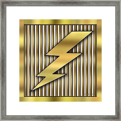 Lightning Bolt Framed Print by Chuck Staley