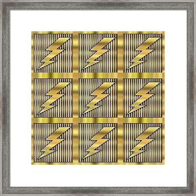 Lightning Bolt Group - Transparent Framed Print by Chuck Staley
