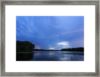 Lightning Framed Print by Bryan Bzdula