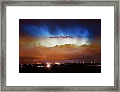 Lightning Cloud Burst Boulder County Colorado Im34 Framed Print by James BO  Insogna