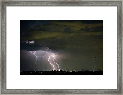 Lightning Man In The Clouds Framed Print by James BO  Insogna
