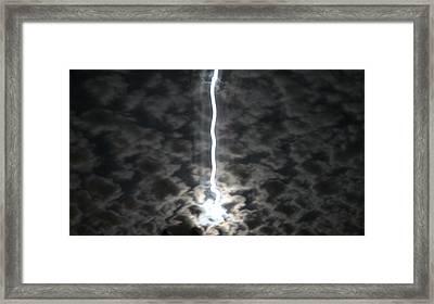 Lightning Moon Framed Print by Joshua Sunday