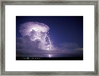 Lightning Framed Print by Pekka Parviainen