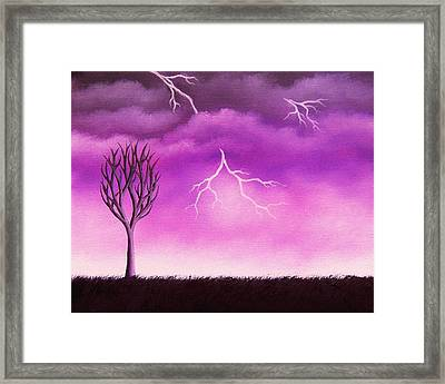 Lightning Scars Framed Print by Rachel Bingaman