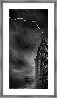 Lightning Strike Framed Print by Martin Newman