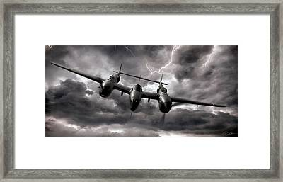 Lightning Strikes Again Framed Print by Peter Chilelli