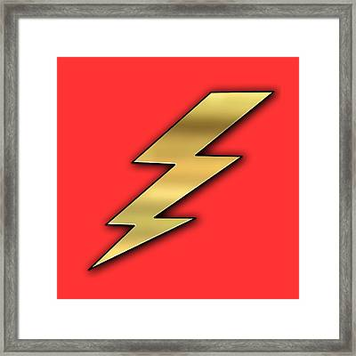 Lightning Transparent Framed Print by Chuck Staley
