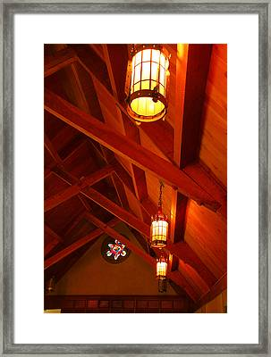 Lights And Beams Framed Print by Steven Ainsworth