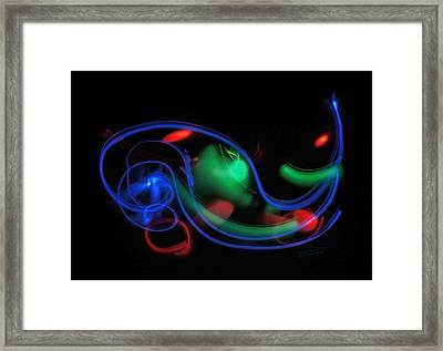 Lights In Motion Framed Print by Barbara  White