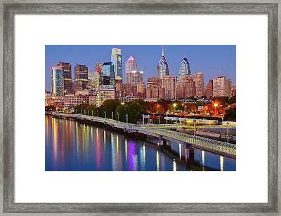 Lights In The Big City Framed Print by Skyline Photos of America