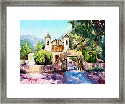 Lights Of Chimayo Framed Print by Marie Massey