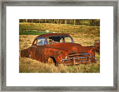 Lights Out 1951 Chevrolet Deluxe Coupe Framed Print by Reid Callaway