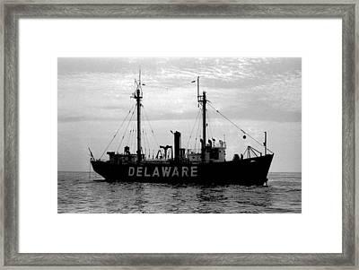 Lightship Delaware Vintage 1968 Framed Print by Wayne Higgs