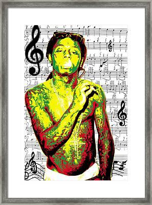 Lil Wayne Framed Print by Brad Scott