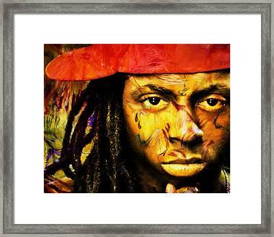 Lil Wayne Framed Print by Dan Sproul