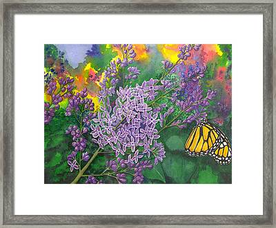 Lilac Framed Print by Catherine G McElroy