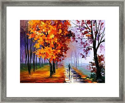 Lilac Fog Framed Print by Leonid Afremov