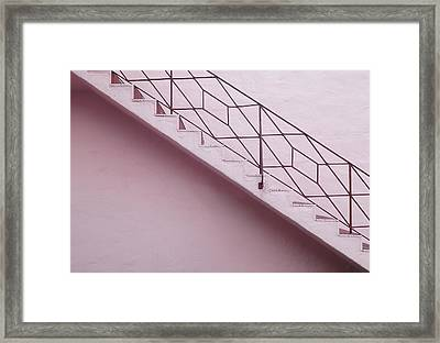 Lilac Staircase Framed Print by Rudy Umans