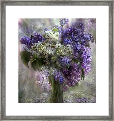 Lilacs Of Love Framed Print by Carol Cavalaris