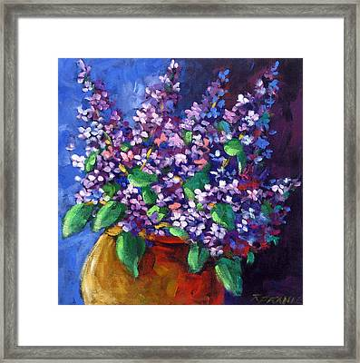 Lilacs Framed Print by Richard T Pranke