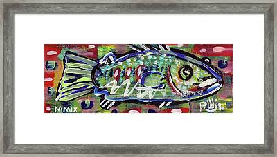 Lil'funky Folk Fish Number Fourteen Framed Print by Robert Wolverton Jr