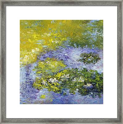 Lilly Pond Framed Print by Terry  Chacon