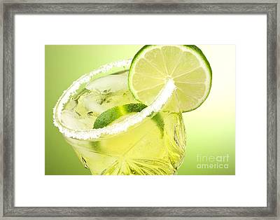 Lime Cocktail Drink Framed Print by Blink Images
