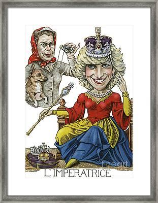 L'imperatrice Framed Print by Debbie  Diamond