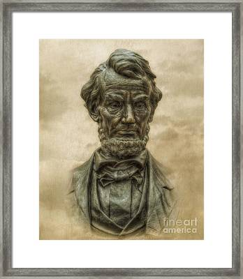 Lincoln Address Memorial Statue Framed Print by Randy Steele