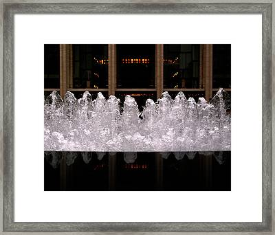 Lincoln Center Framed Print by Rona Black