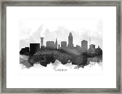 Lincoln Cityscape 11 Framed Print by Aged Pixel