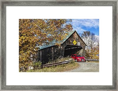 Lincoln Covered Bridge Framed Print by John Greim