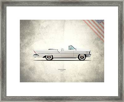Lincoln Premiere 1957 Framed Print by Mark Rogan